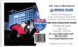 Imperial Palace Casino - BIloxi MS - Free Auto Collection Pass Coupon (Laminated) - Blank Reverse - Casino Cards