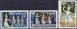 Kampuchea 1985 - Folk Dances ( Mi 663/65 - YT 543/45 ) Complete Issue - Kampuchea