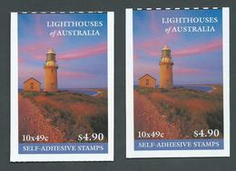 Australia 2002 Lighthouses $4.90 Booklets Both Barcodes Fine Complete - Booklets