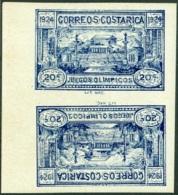 COSTA RICA 1924 CENTRAL AMERICAN GAMES, 20c IMPERF TÊTE-BÊCHE PAIR** (MNH) - Costa Rica