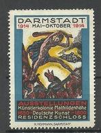 GERMANY 1914 Künstlerkolonien Mathildenhöhe Kunst Art Ausstellungen Residenzschloss Werbemarke MNH - Vignetten (Erinnophilie)