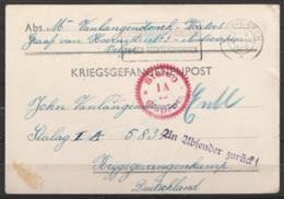 Carte Kriegsgefangenenpost Càd ANTWERPEN /9 XII 1940 Pour Prisonnier Belge Au STALAG I A - Cachets Censure Allemande - Guerra 40 – 45