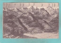 Small Post Card Of Map,Panorama Aigle Bex,Vaud, Switzerland,Q103. - VD Vaud
