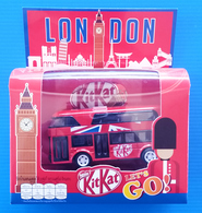 """KITKAT """"LET'S GO!"""" - LONDON BUS SCALE MODEL + 2 CHOCOLATE -  LIMITED COLLECTORS ITEM - Advertising - All Brands"""
