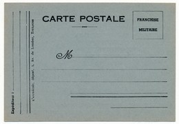 Carte De Franchise Militaire, édition Privée, Non Illustrée - Ed L'Appréciée, Toulouse - Military Service Stampless