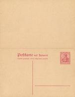DR  - 1916/17 , Ganzsache  Mit Antwort - Alemania