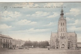 Tienen , Tirlemont  , La Grand Place Et L'église De N.-Dame Au Lac ; N° 2 - Tienen