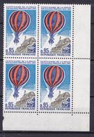 N° 45.P.A : Centenaire De La Poste Par Ballons Montés: Bloc De 4 Timbres Impeccable - 1960-.... Neufs