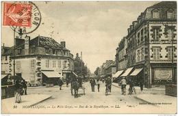 WW 03 MONTLUCON. La Ville Gozel. Penat Le Ripolin Rue De La République 1919 (pli Coin Gauche) - Montlucon