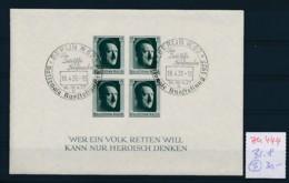 D.-Reich Nr.  Block 8  O   (zu444  ) Siehe Scan - Deutschland