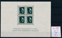 D.-Reich Nr.  Block 7  **  (zu495  ) Siehe Scan - Blocks & Kleinbögen
