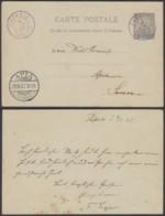 OCEANIE EP 10c DE PAPEETE TAHITI 08/07/1907 VERS APIA SAMOA 28/10/1907 RARE (5G) DC-MV463 - Océanie (Établissement De L') (1892-1958)