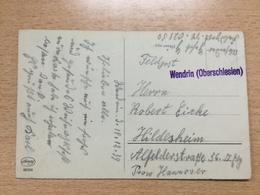 FL2820 Deutsches Reich 1939 Feldpostkarte Mit Einzeiler Wendrin Oberschlesien - Allemagne