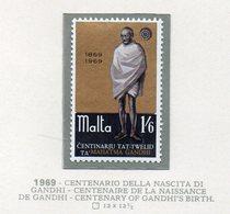 Malta - 1969 - Centenario Della Nascita Di Ghandi. - 1 Valore - Nuovo - Vedi Foto - (FDC14020) - Malta