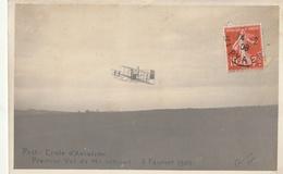 PAU - Ecole D'aviation : Premier Vol De Mr WRIGHT - 3 Février 1909 ( Carte Photo ) - ....-1914: Précurseurs