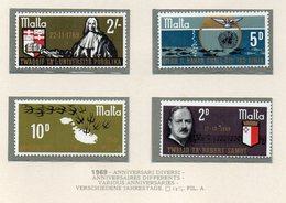 Malta - 1969 - Anniversari Diversi - 4 Valori - Nuovi - Vedi Foto - (FDC14022) - Malta