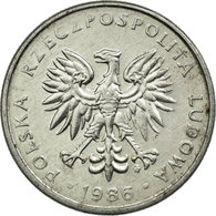 Monnaie, Pologne, 50 Groszy, 1986, Warsaw, TB+, Aluminium, KM:48.2 - Pologne