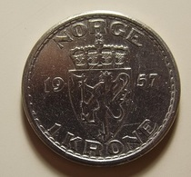 Norway 1 Krone 1957 Varnished - Norvège