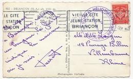 """FM Rouge OMEC Briançon 1955 + """"Hopital Héliothérapique De Briançon - Le Vaguemestre"""". - Franchise Militaire (timbres)"""