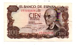 Espagne - 100 Pesetas De 1970-2T-voir état - 100 Pesetas