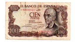 Espagne - 100 Pesetas De 1970-1M-voir état - 100 Pesetas
