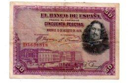 Espagne - 50 Pesetas De 1928-D7--voir état - [ 1] …-1931 : Premiers Billets (Banco De España)