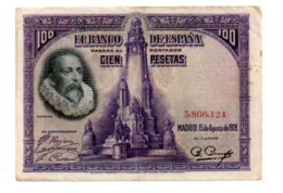Espagne - 100 Pesetas De 1928-3--voir état - [ 1] …-1931 : Premiers Billets (Banco De España)