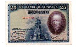 Espagne - 25 Pesetas De 1928-E2--voir état - [ 1] …-1931 : Premiers Billets (Banco De España)