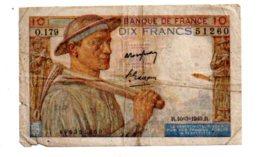 France - 10 Francs Mineur - 10-3-1949--voir état - 1871-1952 Anciens Francs Circulés Au XXème