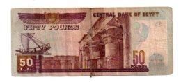 Egypt - 50 Pounds--voir état-scotch - Egypt