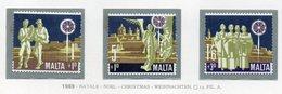 Malta - 1969 - Natale - 3 Valori - Nuovi - Vedi Foto - (FDC14024) - Malta
