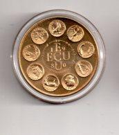 Médaille - Europa III-Ecu 1980--voir état - Monétaires / De Nécessité
