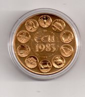 Médaille - Europa III-Ecu 1983--voir état - Monétaires / De Nécessité