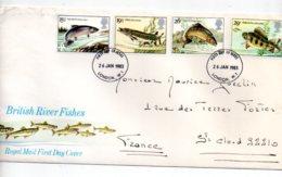 British River Fishes-voir état - FDC