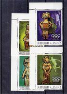 Ras Al Khaima - Jeux Olympiques Mexique 68 - Michel 259 / 62 ** - Sprint - Haltères - Disque - Statues - Valeur 10 € - Zomer 1968: Mexico-City