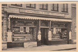 """Diest , Boekhandel """" Koning Albert """" Librairie """" Roi """"; B'jhuis Van Lovania J.A.Hebbelyinck , LEUVEN ,(Dagbladen,School, - Diest"""