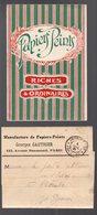 Paris 12e : Av Daumesnil : Petit Carton Georges Gauthier PAPIERS PEINTS + Bande D'expédition 1921 (PPP16956) - Advertising