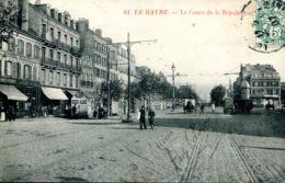 N°69353 -cpa Le Havre -le Cours De La République- - Autres
