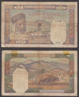Algeria 100 Francs 1942 (VG) Condition Banknote P-85 - Algerije
