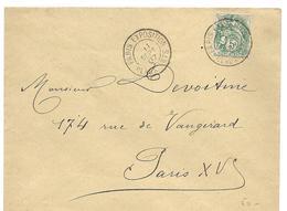 PARIS Cachet PARIS EXPOSITION BEAUX ARTS Sur 5c Blanc 11.9.1907   ..G - Marcophilie (Lettres)
