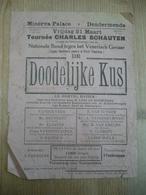 Cinema Minerva Palace Dendermonde Nationale Bond Tegen Venerisch Gevaar Péril Vénérien Syphilis Dodelijke Kus 1920 - Affiches