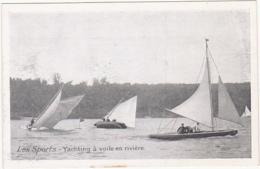 A La Belle Jardinière - Les Sports - Yatching à Voile En Rivière - Voile