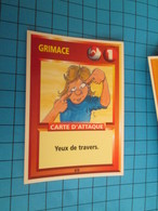 "1526-1550 : TRADING CARD 1991 JEU ""CANAILLES"" PANINI / GRIMACE - YEUX DE TRAVERS - Trading Cards"