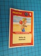"""1551-1575 : TRADING CARD 1991 JEU """"CANAILLES"""" PANINI / PROJECTILE - BALLON DE HAND-BALL - Trading Cards"""