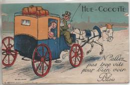 BLOIS  CARTE A SYSTEME  HUE COCOTTE  Carte En L'etat - Blois