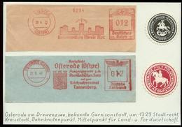 P0414 - DR Freistempel Auf Briefstücke Osterode Ostpreußen , Tannenberg + 2 Polizei Siegelmarken: Gebraucht 1935 , 194 - Briefe U. Dokumente