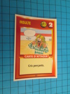 "1551-1575 : TRADING CARD 1991 JEU ""CANAILLES"" PANINI / INSULTE - CRIS PERçANTS - Trading Cards"