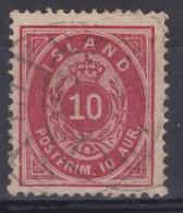ISLANDE  1873: Le  10 A. , Oblitéré - Usati