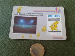 PORTUGAL CALENDARIO DE BOLSILLO CALENDAR 1991 PUBLICIDAD ADVERTISING ILUMINACIÓN PHILIPS ASTRA OPORTO LUZ LIGHT ENERGÍA - Calendarios