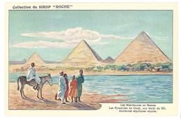 "Chormo Collection Su Sirop "" Roche "" Au Thiocol - Les Pyramides De Gizeh Au Bord Du Nil ... - Chromos"